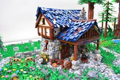 Minecraft Projects, Lego Projects, Lego Structures, Lego Knights, Shop Lego, Amazing Lego Creations, Building Concept, Blacksmith Shop, Lego Castle