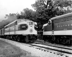 Parker Lamb Collection: Group Four – Center for Railroad Photography & Art Rail Train, Railroad History, Southern Railways, Railroad Photography, Norfolk Southern, Covered Wagon, Rail Car, Train Pictures, Diesel Locomotive