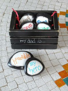 Try these DIY Father's Day Hero Stones.