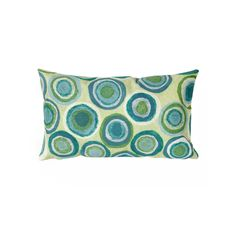 Trans Ocean Imports Liora Manne Puddle Dot Indoor Outdoor Throw Pillow, Green