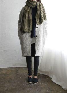 Comfy, casual, black jeans, khaki, scarf, simple, style, autumn, fashion