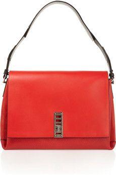 Proenza Schouler Elliot leather and suede shoulder bag | NET-A-PORTER