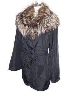 depot vente de luxe en ligne - luxury eshop online - CHRISTIAN DIOR - VESTE  LONGUE VINTAGE EN NYLON NOIR COL FOURRURE   TendanceShopping.com  dior   lovedior ... b0861afbd02