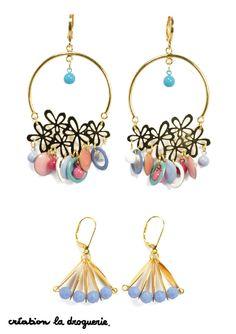 Notre cœur balance entre ces deux paires de BO, et vous ? #ladroguerie #bijoux #bo