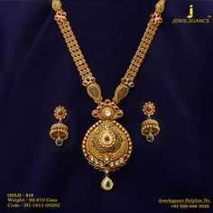 Gold 916 Premium Design Get in touch with us on Gold Bangles Design, Gold Jewellery Design, Diamond Jewellery, Jewellery Box, Real Gold Jewelry, Indian Jewelry, Quartz Jewelry, Necklace Designs, Bridal Jewelry