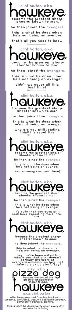 "Clint Barton aka Hawkeye [""Hawkeye"" Intro: Issues 1-3, 6, 8, 9, 11 (guest starring Lucky the Pizza Dog)]"