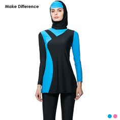 35228ac17e572 Make Difference Hajib Swimwear Burkinis Muslim Swimsuit Full Cover Islamic  Swim Wear Islamic-swimSwimSuits-