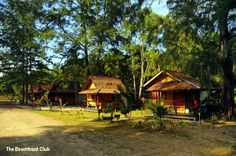 Quaint beach bungalows on the shores of Krabi. Pan Beach Bungalows is set on a remote and private beach at Nopparat Thara Beach and features small one room beachfront bungalows with fan. #http://thebeachfrontclub.com/beach-hotel/asia/thailand/krabi/nopparatthara-beach/pan-bungalow/