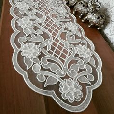 This Pin was discovered by Gön Cutwork Embroidery, Embroidery Patterns, Brother Innovis, Romanian Lace, Point Lace, Gold Work, Bargello, Hobbies And Crafts, Knitting