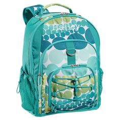 """Great example of a girls backpack """"without the girly."""" One of the few we could find in any girls department without pink or flowers!  From Pottery Barn Teen (so sized for the slightly older girl)."""