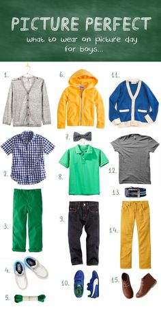 What to wear for school pictures  boys ( via petit a petit)