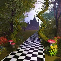 Alice In Wonderland Garden, Alice In Wonderland Tea Party Birthday, Alice In Wonderland Decorations, Wonderland Party, Alice In Wonderland Background, Video Backdrops, Studio Backdrops, Photography Backdrops, Fairy Photography