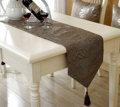 Luxury silver coffee table runner 32cm * 200cm