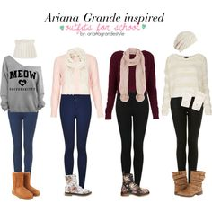 Ariana Grande Inspired School Outfits by arianagrandestyle (dresslikearianaa on polyvore)