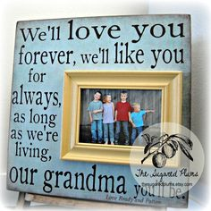 Gift For Grandma Mothers Day Grandparents Gift by thesugaredplums