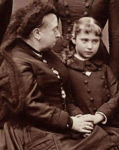 Queen Victoria of the United Kingdom with her granddaughter,the future Empress…