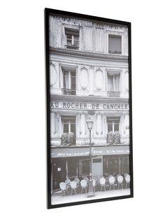 Parisian café photograph framed print 50x100cm - BHS