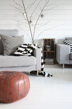 Via Desogmia   Nordic   Grey and Leather   IKEA  Pillow