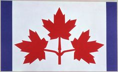 Design proposal for the new #Canadian #flag featuring three maple leaves