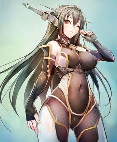 Twitter / taishi__nw: この前描いた競泳水着長門さんを、ちょっと対魔忍っぽく改造して ...