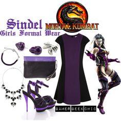 """Mortal Kombat - Sindel"" by gamer-geek-chic on Polyvore"