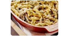 Chicken pasta bake: This easy and delicious recipe uses left over cooked chicken and store cupboard ingredients. Great for toddlers and young children.