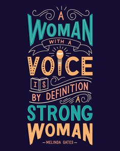 A woman with a voice is, by definition, a strong woman. Feminism. Feminist Art. Hand Lettering by Rayane Alvim