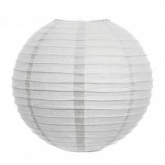 """16"""" Round Paper Lanterns - White  $2.50 each"""