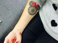 Minnie mouse Disney tattoo