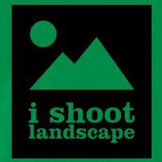 I SHOOT LANDSCAPE - T-Shirt für Fotografen T-Shirts