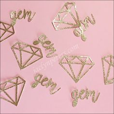 She's A Gem Gold Glitter Diamond Party Confetti 60th Birthday Party, Baby First Birthday, Girl Birthday, Birthday Ideas, Diamond Glitter, Gold Glitter, Party Themes, Party Ideas, Gala Themes