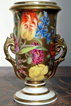 VERY Rare Nantgarw / Swansea Painted Vase IN PERFECT CONDITION | eBay