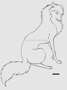 Cartoon wolf or dog line-art by SuperiorIntellect.deviantart.com on @DeviantArt