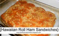 {Hawaiian Roll Ham Sandwiches}