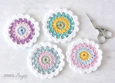 Flower Coaster Crochet Pattern