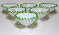 Image result for vintage sherbet bowls Fenton Milk Glass, Serving Bowls, Tableware, Image, Dinnerware, Tablewares, Dishes, Place Settings, Mixing Bowls