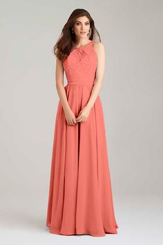 Bridesmaid Dress #1465 in Watermelon. Allure Bridals