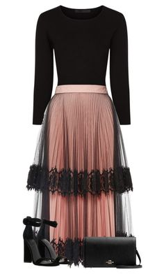 Feb 2020 - A fashion look from April 2017 by miagracerobinson featuring Christopher Kane, Kendall + Kylie, Givenchy, 1928 and Alexander Wang Mode Outfits, Skirt Outfits, Dress Skirt, Dress Up, Pink Dress, Classy Outfits, Stylish Outfits, Look Fashion, Womens Fashion
