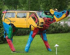 car cow mashup sculpture by Miina Äkkijyrkkä, 2016 (LP)