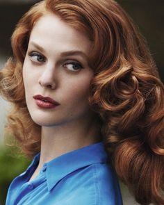 Haarfarbe Rot bei den Haarfarben Trends 2015