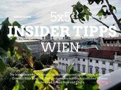 Die 5x5 Insider Tipps Wien #Wien #Österreich #Tipps