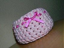 Košíky - ružový košíček  - 4027247_