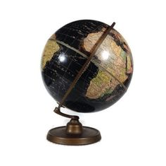 Beautiful black antique globe for sale now in my shop InUseAgain !