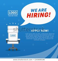 we are hiring, job vacancy poster with empty office chair illustration ads for millennial We Are Hiring, Jobs Hiring, Brown Leather Recliner Chair, Leather Chairs, Hiring Poster, Recruitment Ads, Ashley Furniture Chairs, Overstuffed Chairs, Social Media Ad