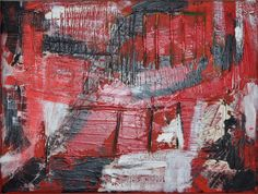 Red Abstract Painting: Becker Beste No. 15, modern colorist painting, expressionist art, acrylic painting, Berlin Art, wall art, home decor