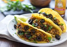 This Tempeh Tacos recipe from Betty Goes Vegan by Anne & Dan Shannon is a quick, easy meatless dinner. Crumbled tempeh makes a great sub for ground beef!