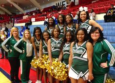 Cheering squad makes the trip to Hutchinson KS for NJCAA national basketball tournament,