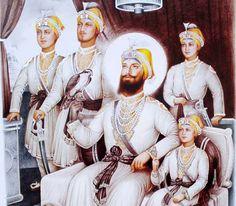 guru gobind singh ji and chaar sahibzaade hd