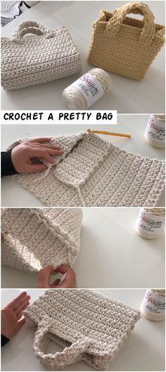 Crochet bags purses 193443746480646250 - How To Crochet A Pretty Bag – Crochetopedia Source by vlaparra Crochet Tote, Crochet Handbags, Crochet Purses, Crochet Gifts, Easy Crochet, Crochet Stitches, Crochet Baby, Knit Crochet, Doilies Crochet