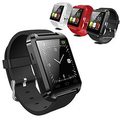 LEMFO Bluetooth Smart Watch WristWatch U8 UWatch Fit for Smartphones IOS Android Apple iphone 4/4S/5/5C/5S Android Samsung S2/S3/S4/Note 2/Note 3 HTC Sony Blackberry (Black)